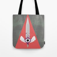 sword Tote Bags featuring Dark Sword by Thomas Official