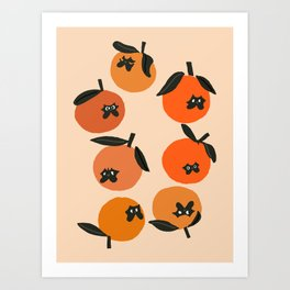Oranges and Pugs Art Print