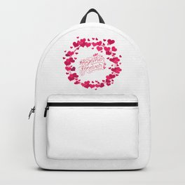 Valentine's Day Heart Wreath Together Forever Backpack
