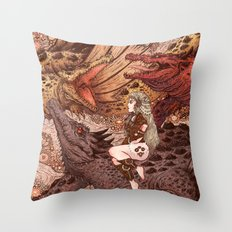Through The Fire Throw Pillow
