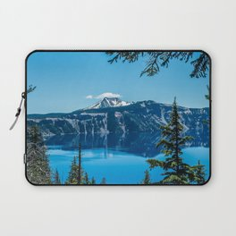 Crater Lake Views // National Park Landscape Photography Clear Deep Blue Waters Laptop Sleeve