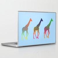 giraffes Laptop & iPad Skins featuring Giraffes  by Michelle Jalfon