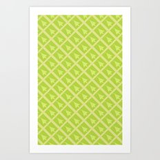 Tree patten 4533 Art Print