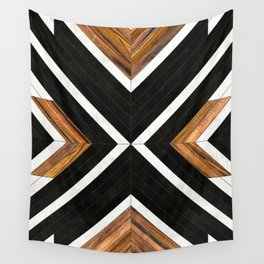 Urban Tribal Pattern 1 - Concrete and Wood Wall Tapestry