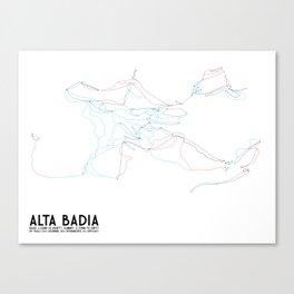 Alta Badia, ITA - EURO (Unlabeled) - Minimalist Trail Art Canvas Print