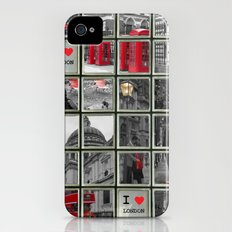 I love London Collage Slim Case iPhone (4, 4s)