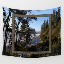 awesome ruby beach, wa (2x square) Wall Tapestry