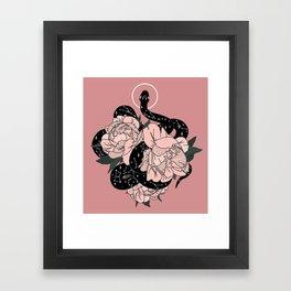 Celestial Snake In Pink By Moon Goddess Market Framed Art Print