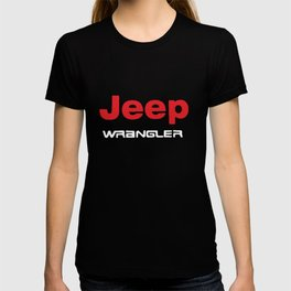 Jeep Wrangler Car Logo Men's Black Car T-Shirts T-shirt