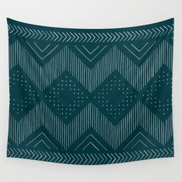 Teal Tribal Wall Tapestry