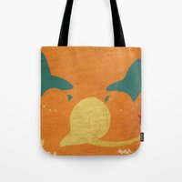 charizard Tote Bags featuring Charizard by JHTY