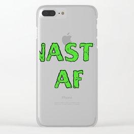 NASTY AF Clear iPhone Case