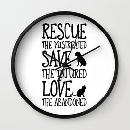 Rescue Save Love Wall Clock