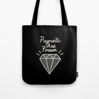 diamonds Tote Bags featuring Diamonds by Alex Solis