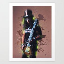 Slash mixed art Art Print