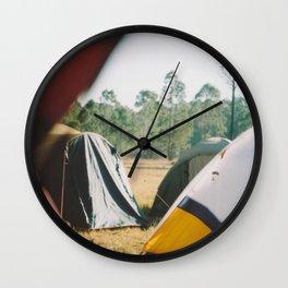 Tent city. Wall Clock
