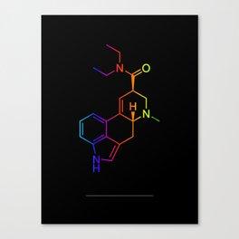 LSD color in black Canvas Print