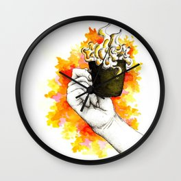 Inky hands14-Cup Wall Clock