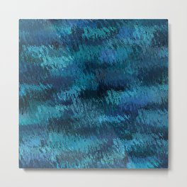 Blue Ice Abstract Art Metal Print