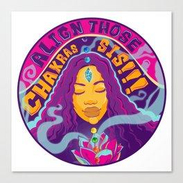Crystal Lotus Canvas Print