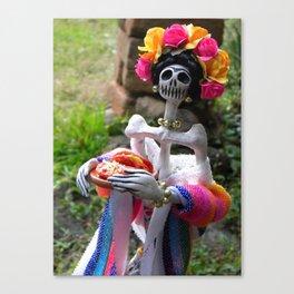 Day of the dead: Enchiladas a la Frida Canvas Print