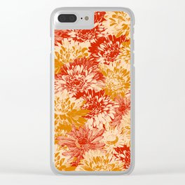 marguerites and chrysanthemums in red and yellow Clear iPhone Case
