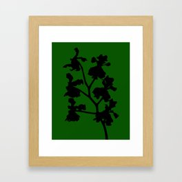 Orchid in Pale Pink - Original Floral Botanical Papercut Design Framed Art Print