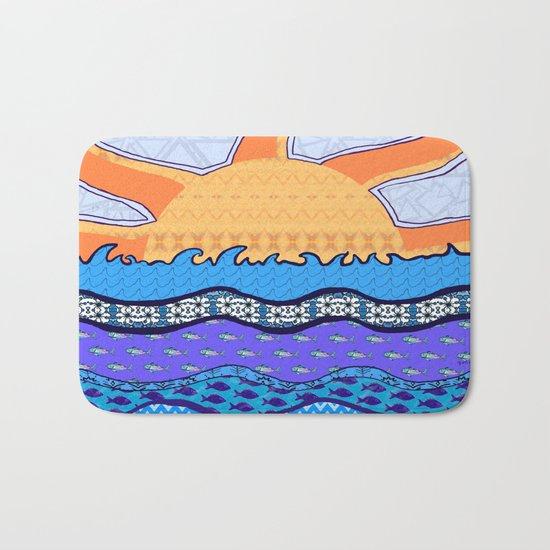 Sun on the Horizon Bath Mat