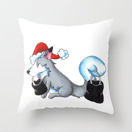 Black Friday Secret Santa Throw Pillow