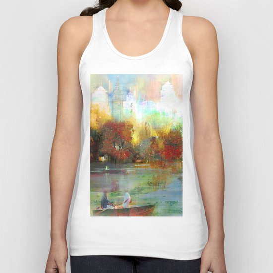Afternoon autumnal in Central Park Unisex Tank Top