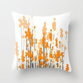 Orange Spring Bouquet on White Background #decor #society6 #buyart Throw Pillow