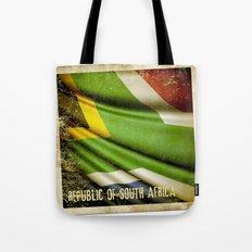 South Africa grunge sticker flag Tote Bag