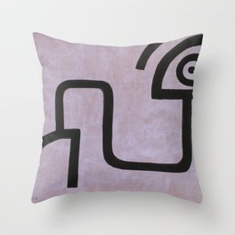 signo 9 negro Throw Pillow