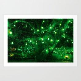 Light bulb garden Art Print