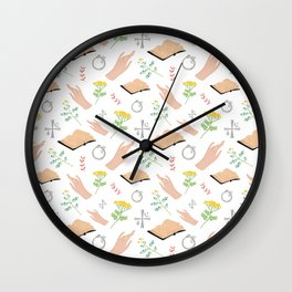 Magical symbols and herbs Wall Clock