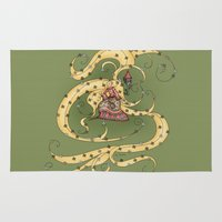 rapunzel Area & Throw Rugs featuring Rapunzel by Catru
