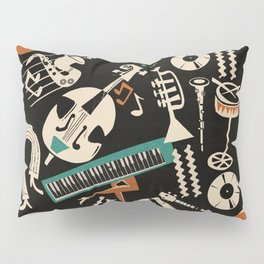 Jazz Rhythm (negative) Pillow Sham