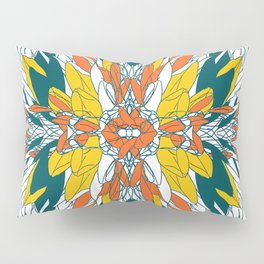 Colorful geometric abstract plant design Pillow Sham