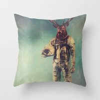 urban Throw Pillows featuring Without Words by rubbishmonkey