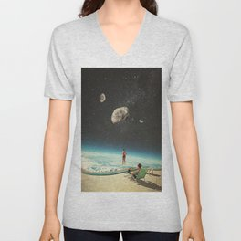 Summer with a Chance of Asteroids Unisex V-Neck