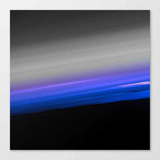 Blue Purple Grey Black Ombre Canvas Print