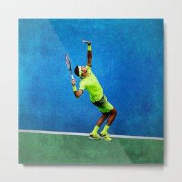 Del Potro Tennis Serve Metal Print