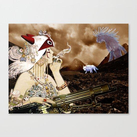 Chasing Smoke - Princess Mononoke Nouveau Canvas Print