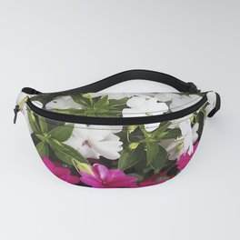 Patient Impatiens - Deep Pink and Sparkling White Fanny Pack