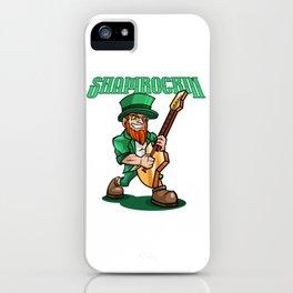 Shamrockin - Rocking Leprechaun With E-Guitar iPhone Case