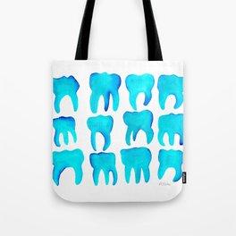 Turquoise Molars - Horizontal Tote Bag