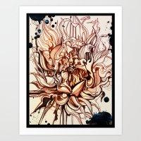 dahlia Art Prints featuring Dahlia by Irina Vinnik
