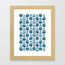 Matrioshkas Pattern Framed Art Print