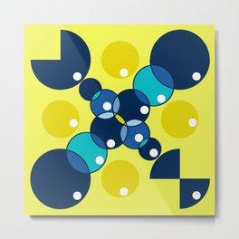 Circles of Blue Metal Print