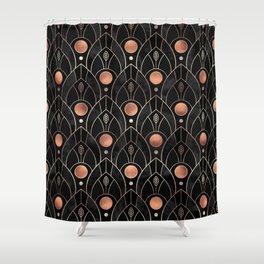Art Deco Leaves / Version 3 Shower Curtain